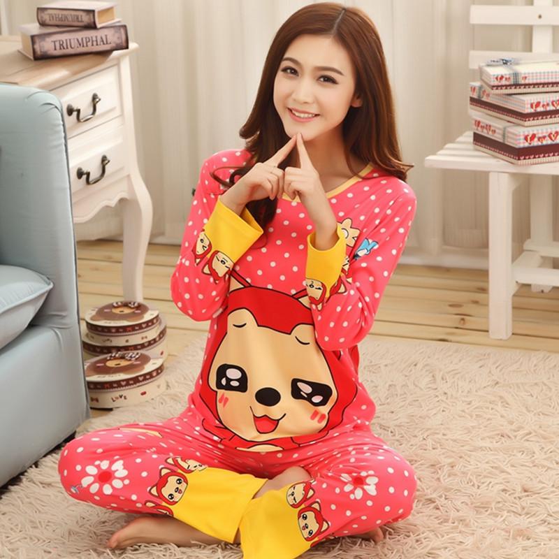 2015 осень зима губка боб пижамы Новый стиль мультфильм женщин пижамы множеств домашняя одежда для женщин толщиной фланель свободного покроя пижамы(China (Mainland))