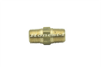 "Generic Brass Pipe Hex Nipple Fitting 1/8"" Male NPT Air Fuel Water (Pack of 5)"