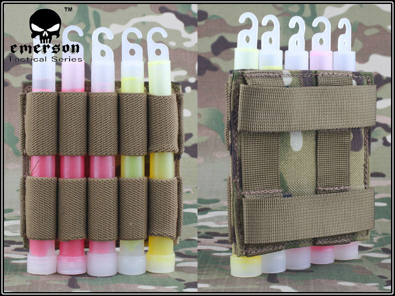 EMERSON Tactical Military Light Stick pouch Molle with meshbelt utility military pouch EM6033(China (Mainland))