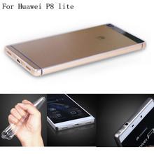 Etui Huawei P8 lite Brand Original Silicon Coque Case Huawei P8 5.0″ TPU Transparent Phone Cases Mobile Phone Bag Cover Caso