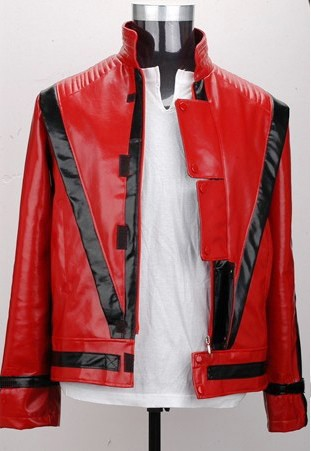 Free-shipping-Wholesale-Michael-Jackson-leather-thriller-Red-jacket-All-Size (2)