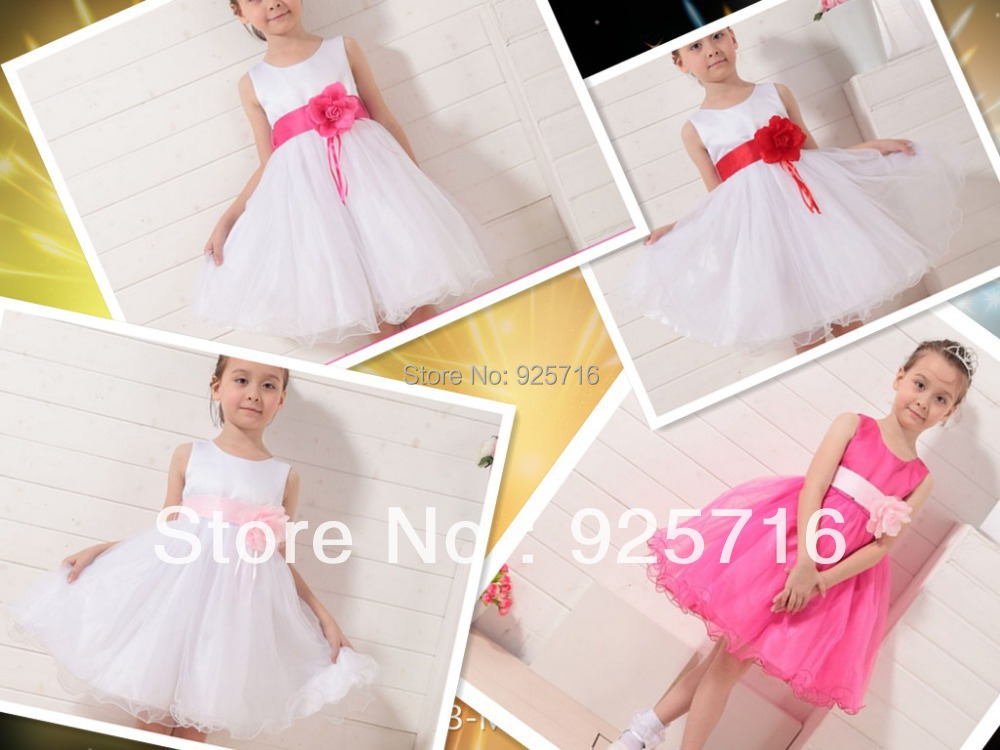 6pcs/lot big bowknot  princess dresses for childrens girl have 4color dress for kids free shipping<br><br>Aliexpress