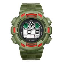 2016 Yoner Watch Mens LED Digital Date Alarm Waterproof Rubber Sports Army Wristwatch