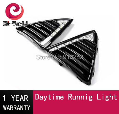 Gloss Model 12v LED Car DRL daytime running light Bumper Front Fog lamp with dimming style Relay for Ford Focus 3 2012 2013 2014(China (Mainland))