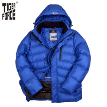 TIGER FORCE 2016 New Design Men Fashion Down Jacket 70% White Duck Down Winter Down Coat Parka European Size Free Shipping D-590(China (Mainland))