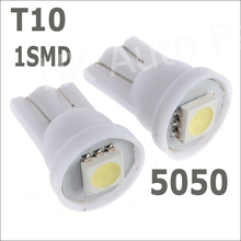 T10 194 168 192 W5W 5050 1 smd led 1smd 1led super bright Auto led car led lighting/t10 wedge led auto lamp 2pcs(China (Mainland))