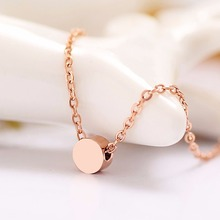 Little Stone 3 Color 18K Gold/Rose Gold/Silver Plated Women Necklace Pendant Made in Stainless Steel 40-45cm Length Chain 03(China (Mainland))