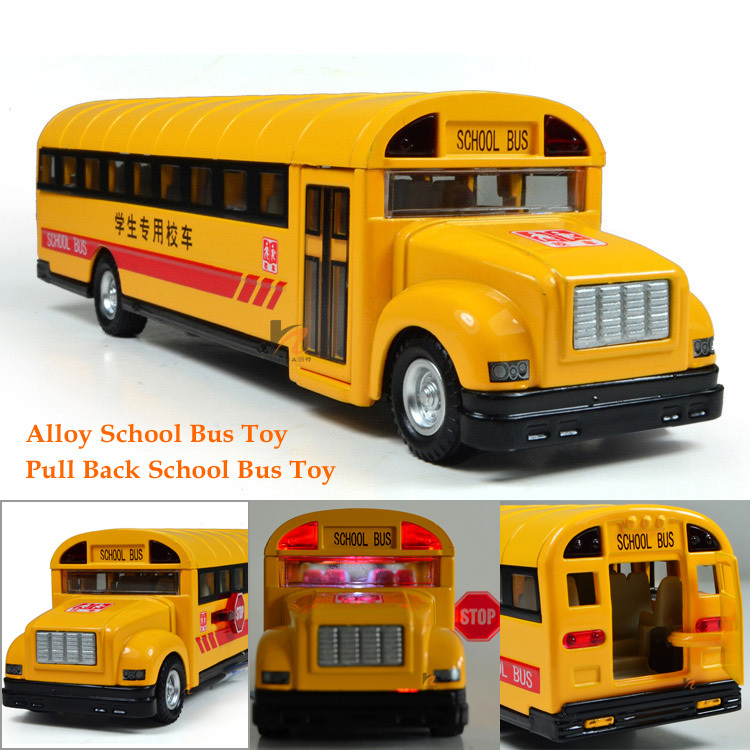 Alloy Pull Back School Bus Toys Car models Children's Gifts Free shipping(China (Mainland))
