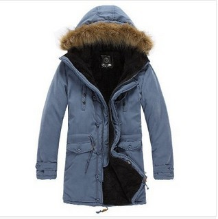 2015 New Brand Russian men winter coats long paragraph lamb wool liner thick padded jacket cotton