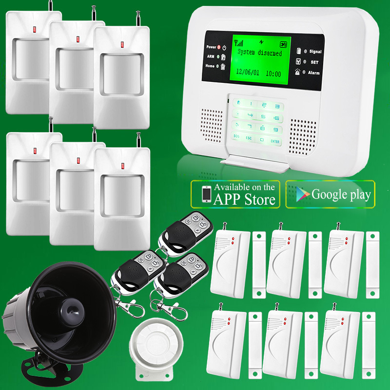 diy home security wireless gsm app auto dial alarm system wi