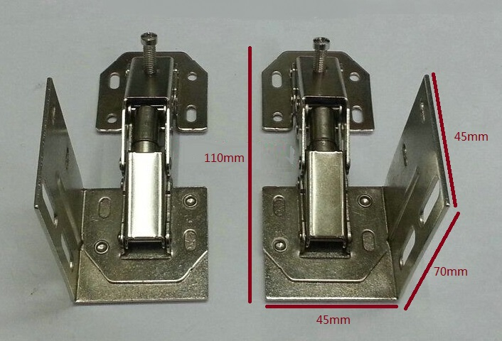8Pairs/LOT Sink Front Nickel Tip Out Euro Tray Hinge Flap Tip Out Tray(China (Mainland))