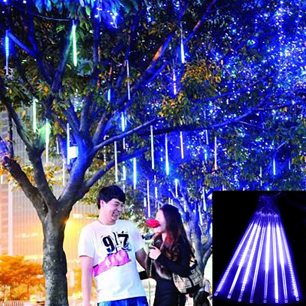 Гаджет  Meteor Shower Rain Tubes 50cm Christmas Lights Led Lamp 100-240V Outdoor Holiday Light New Year Decoration 8pcs/set None Свет и освещение
