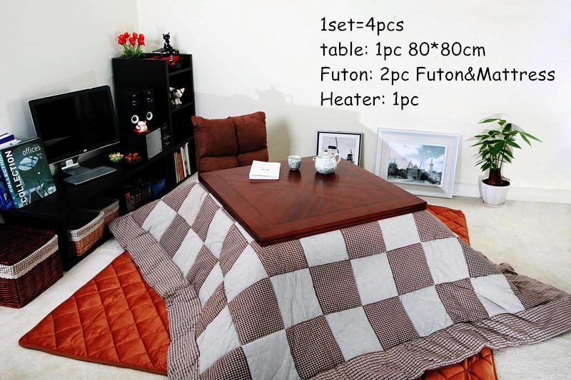 buy 4pcs set kotatsu table futon heater