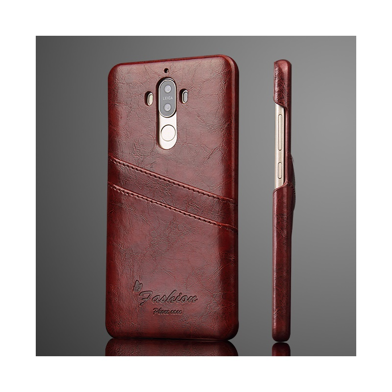 Card Holders Case for Huawei Mate9 Mate 9 Pro Phone Cover Oil Wax PU Leather Skin Hard PC Casing Cases Mobile Back Shell(China (Mainland))