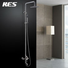 KES X6650B Wall Mount Tub Faucet with Round Single-Function Hand Shower and Metal Lever Handles for Shower System, Brush Steel(China (Mainland))