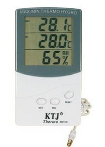 Brand New Digital Indoor Outdoor Thermometer with Hygrometer C/F Hygrometer  Free Shipping&Drop shipping
