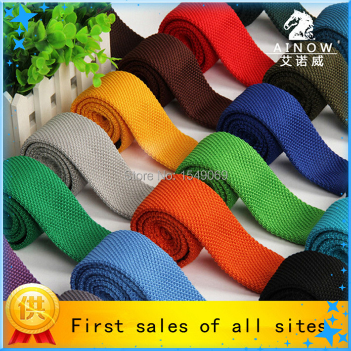 High quality 100% Cotton Tie Slim Solid Knit Casual Ties For Men Necktie Famous Brand Design 20 Colors(China (Mainland))