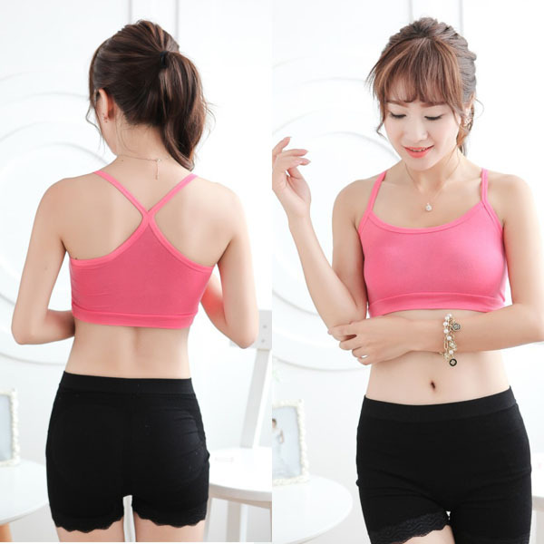 Women Cozy Sports Gym Multicolored Bras Crop Tops Solid Shirt Tank Tops Free shipping