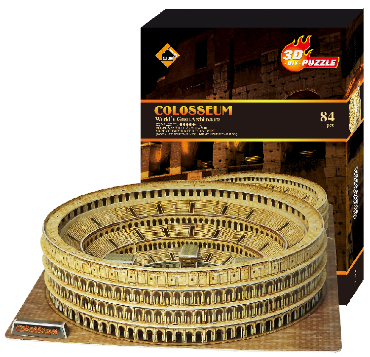 Free shipping New arrival 3d puzzle large scale model handmade assembling building toy Colosseum children gift fancy toys boys(China (Mainland))