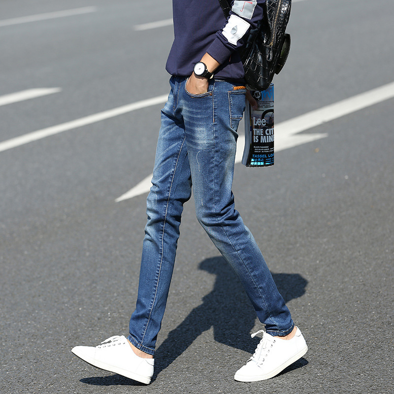 hot sale! England style 100%Cotton jeans men Men's trousers men skinny jeans pants Casual slim blue jeans(China (Mainland))
