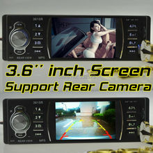 3.6'' inch TFT HD screen car radio,Support rear camera,USB SD aux in stereo with remote control,1 din in Dash car audio mp5(China (Mainland))