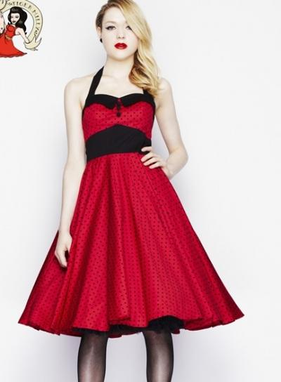 TEA DRESS swallow vintage 1950S SIZE 14 pinup rockabilly ...