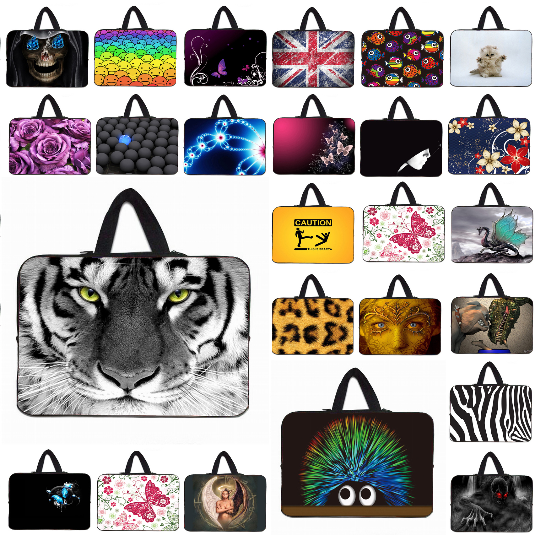 """Animal Notebook Tablet 10 10.1 12 13 14 Inch Zipper Inner Cases Bags For Macbook Pro/Air 11.6"""" 13.3"""" 15.4"""" 17.3"""" Laptop Bag 15.6(China (Mainland))"""