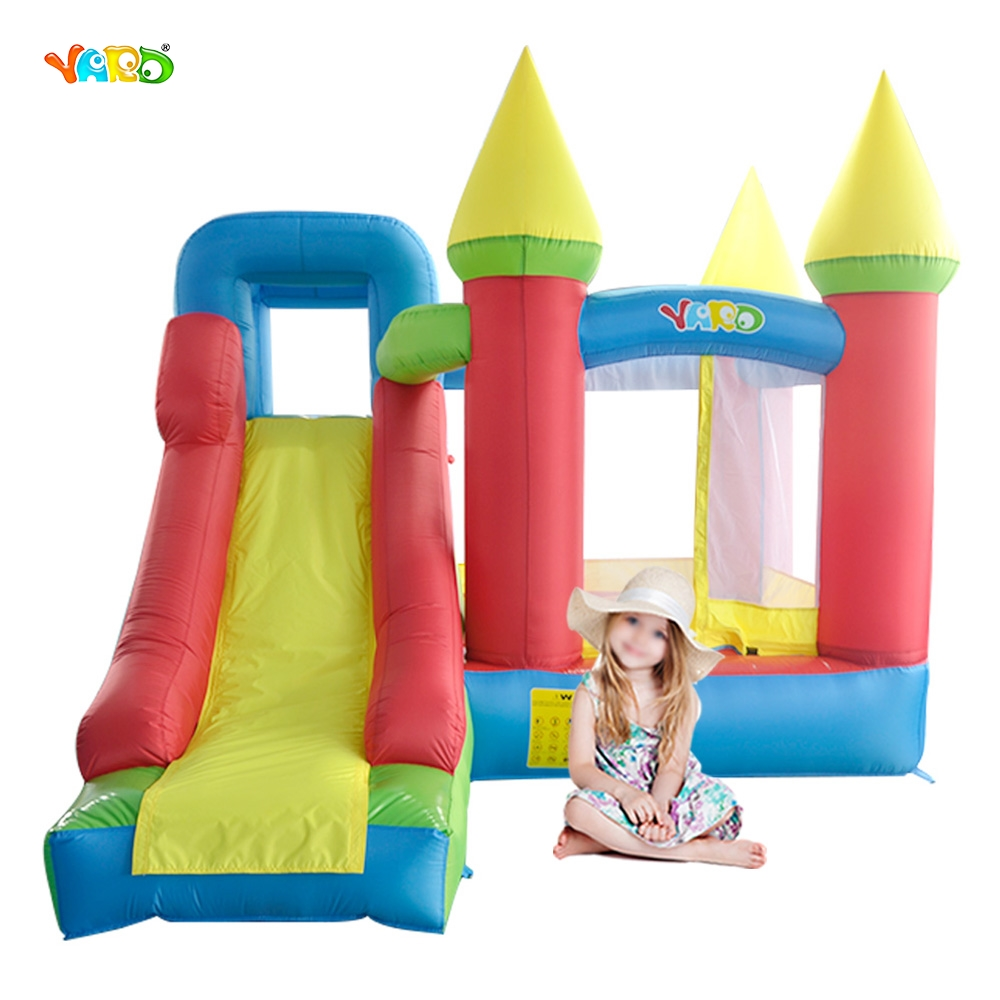 YARD Inflatable Castle for Kids Birthday Party Mini Bounce House with Slide Indoor Outdoor Playing Trampoline(China (Mainland))