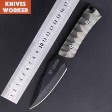 2015 Columbia cuchillo de hoja fija mango de aluminio supervivencia del cuchillo de caza cuchillos acampar exterior herramienta de utilidad cuchillo de titanio Facas