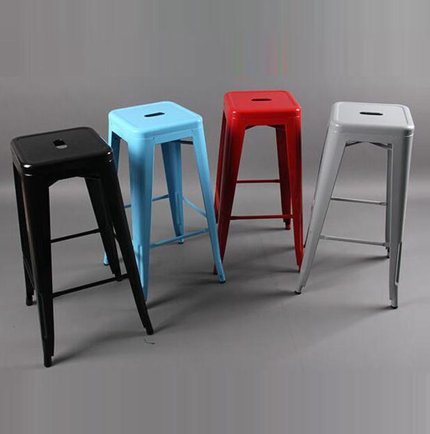 Continental Iron Metal chairs bar chair high metal stool Designer<br>