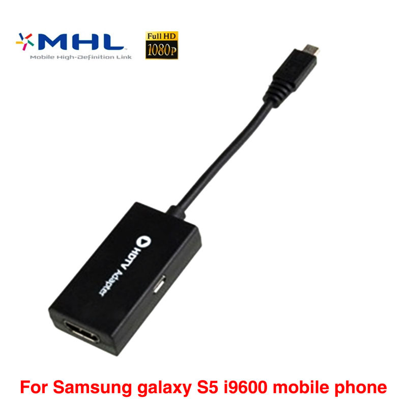 Genuine MHL Micro USB hub to HDMI Cable for Samsung galaxy S5 i9600 mobile phone telefonos moviles HDTV Adapter free shipping(China (Mainland))