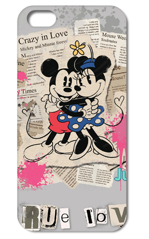 1PC Mickey Mouse True Love style hard cell phone cover case back skin Iphone 6 4.7inch - yuncheng store