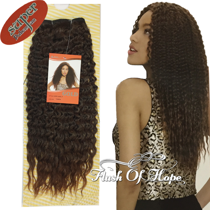"""Гаджет  New Noble Gold Bohemian Super Wavy Synthetic Hair Weft Weave Extensions Ombre Curly Hair 20"""" 150gram/pc 6 Packs/lot T4/M454 None Волосы и аксессуары"""