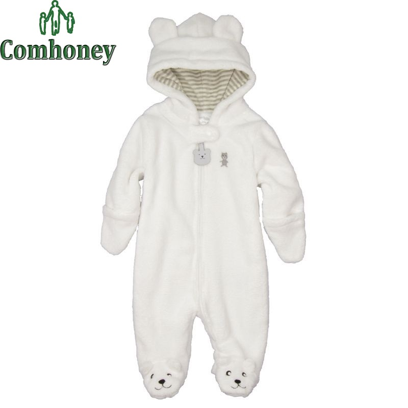 Newborn Baby Romper for Winter Long Sleeve Coral Fleece Animal Infant Toddlers Romper Jumpsuit Baby Costumes Girls Boys Overalls(China (Mainland))