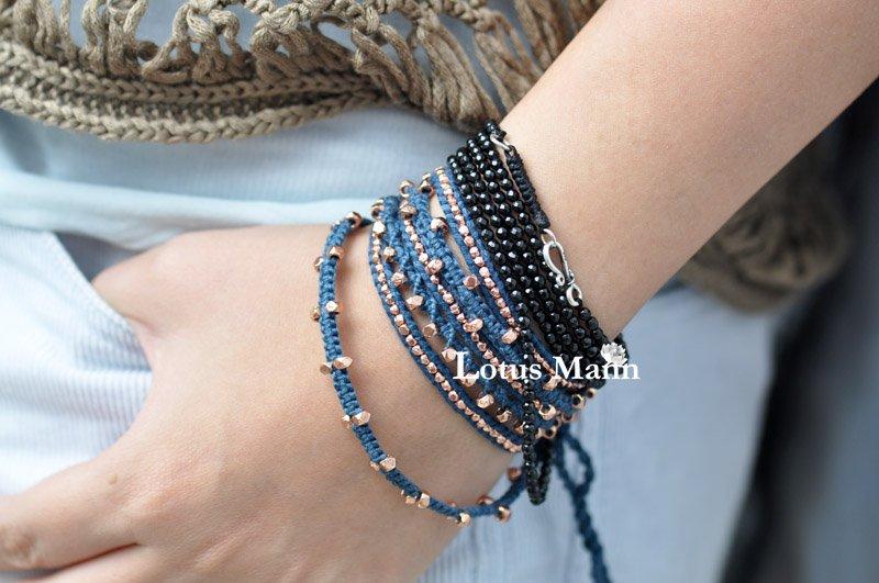 Lotus mann Black Spinel 10 Wrap Bracelet (166cm)<br><br>Aliexpress