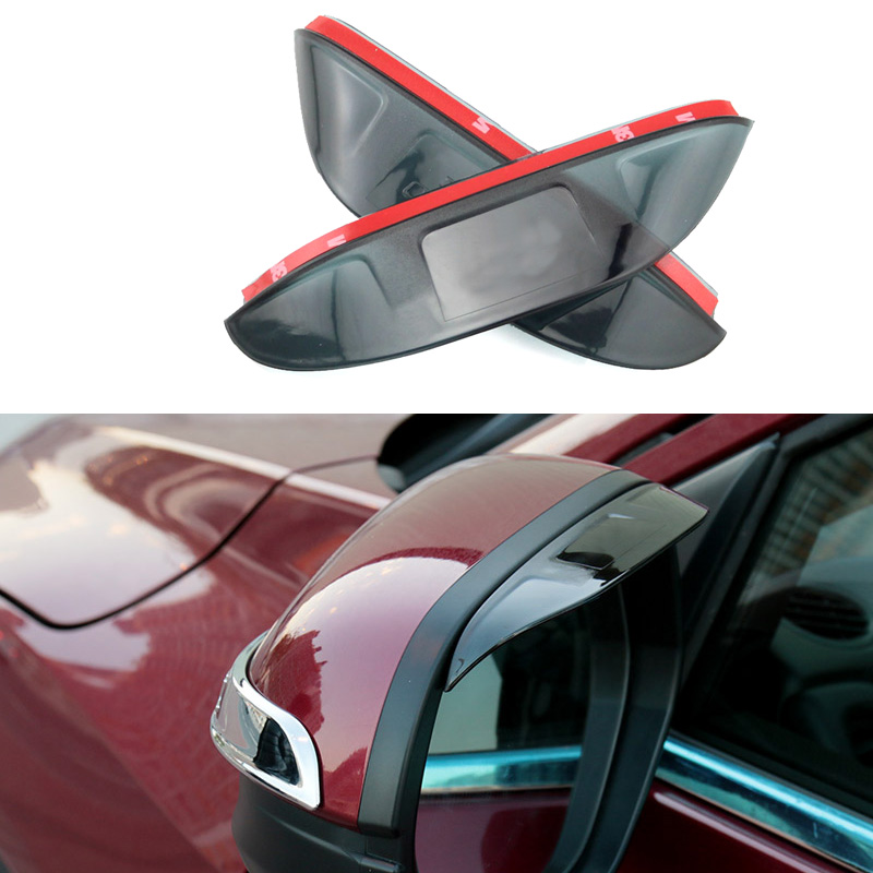 1 Pair Car Styling Rearview Mirror Eyebrow Rainproof Flexible Blade Protector Cover PVC Auto DIY Accessories For Honda HRV 2015(China (Mainland))