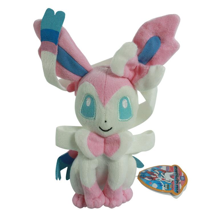 Pokemon Plush Toys 25cm Pokemon Eevee sitting Sylveon Plush Toy kawaii Soft Stuffed Doll Baby Toys kids gift(China (Mainland))