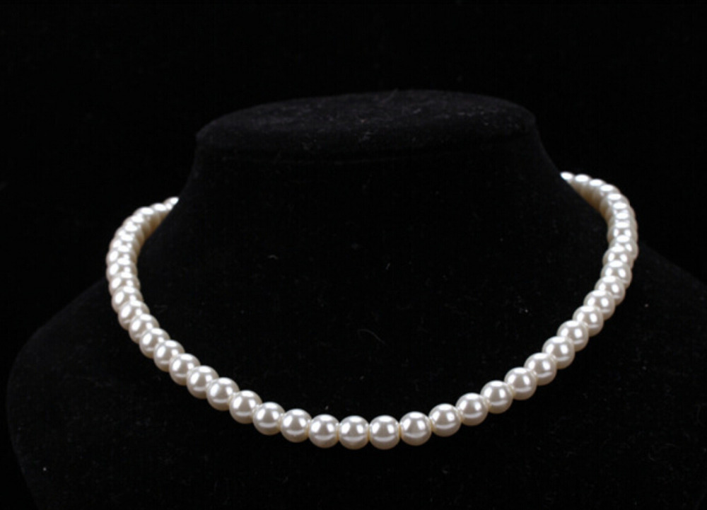 Free Shipping New Arrival Premium Women's Imitation Pearl Necklace White Luxury Necklace Pendant necklace(China (Mainland))