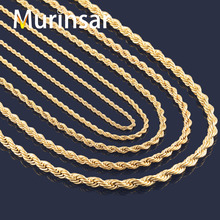 Buy Gold Filled Stainless Steel Necklace Rope Chain Men Women Stainless Steel Gold Chain Necklace High for $1.89 in AliExpress store