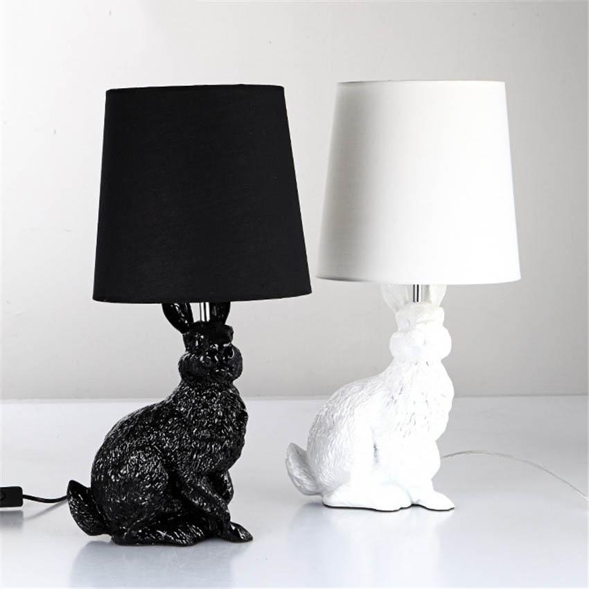 Lampe de table de lapin promotion achetez des lampe de for Lampe de chevet lapin