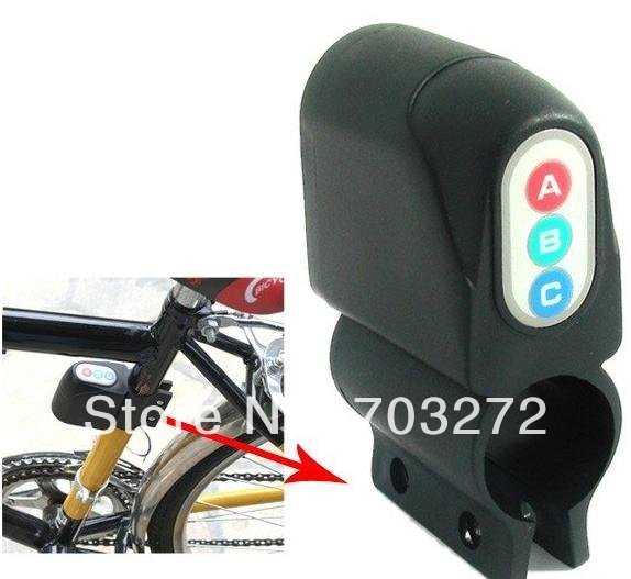 1pcs free dropshipping Vibration Activated 110dB Bicycle Anti-Theft Security Alarm with Password Keypad Bicycle accessory