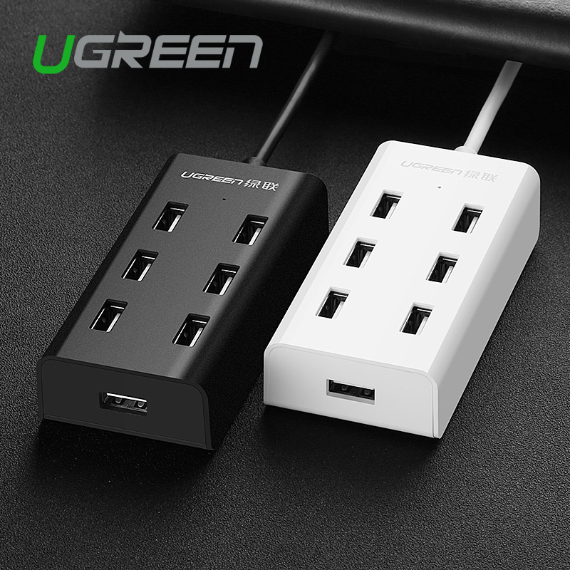 Ugreen 7 Port USB 2.0 HUB High Speed 480Mbps HUB USB Splitter with Micro USB Charging Interface Adapter for Laptop PC Computer(China (Mainland))