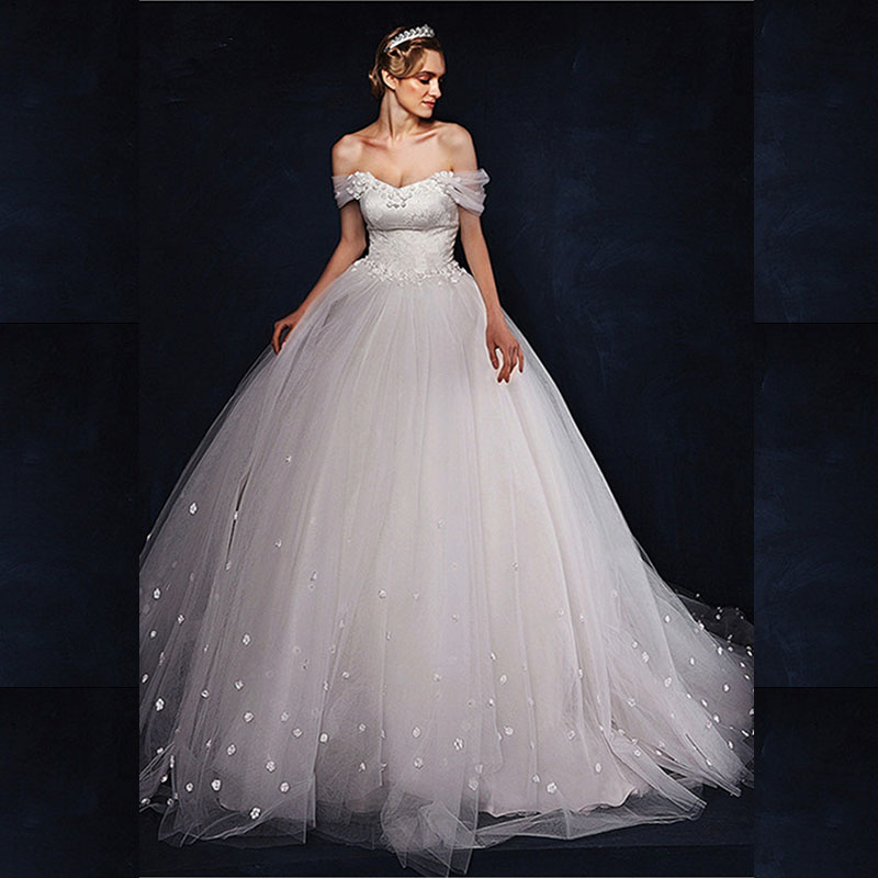 2015romantic a line tulle wedding dress backless cap for A line tulle wedding dress