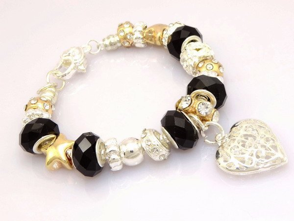 wholesale925 Stamped silver plated jewelry charms bracelet silver bracelet.clear crystal beads bracelet  Pp03