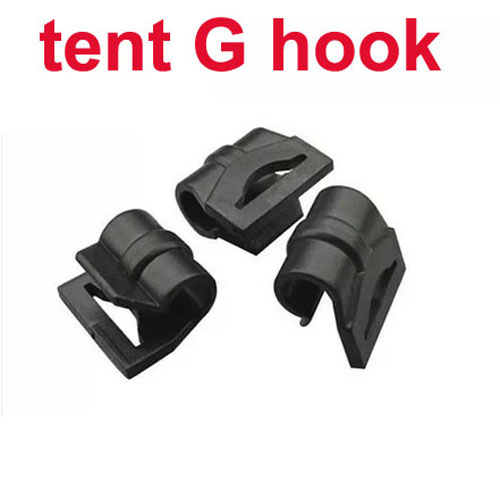 10 pcs/lot Outdoor Tent G Style Hook Curtain Rod Buckles Bivvy Baracca Hunting Kit Tent Accessories(China (Mainland))