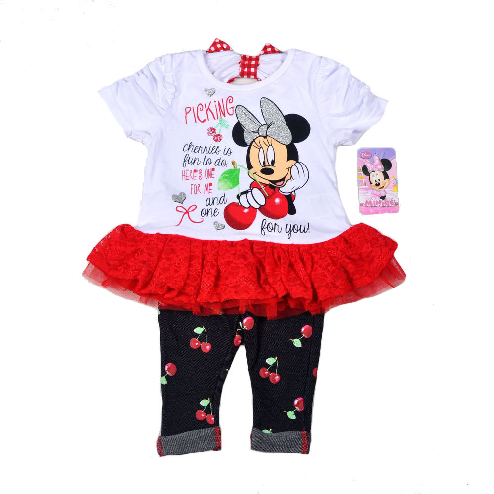 Original Brand 6pcs/lot,2-4 Baby Girls Minnie Mouse Dress and Legging Set,minnie mouse dress and pants two pieces sets<br><br>Aliexpress