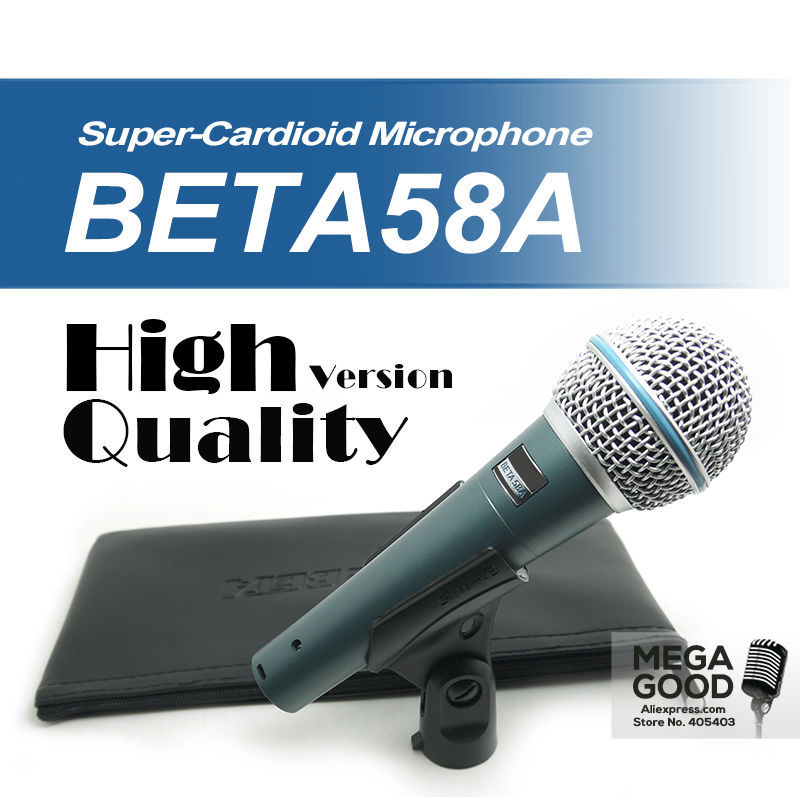 Free Shipping! High Quality Version Beta 58a Vocal Karaoke Handheld Dynamic Wired Microphone BETA58 Microfone Mike Beta 58 A Mic(China (Mainland))