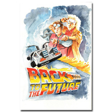 Back Future 1 2 3 Silk Poster Print 13x20 24x36 inch Classic Movie Car Pictures Wall Decor BT(02)01 - Fabric Poster-Custom store