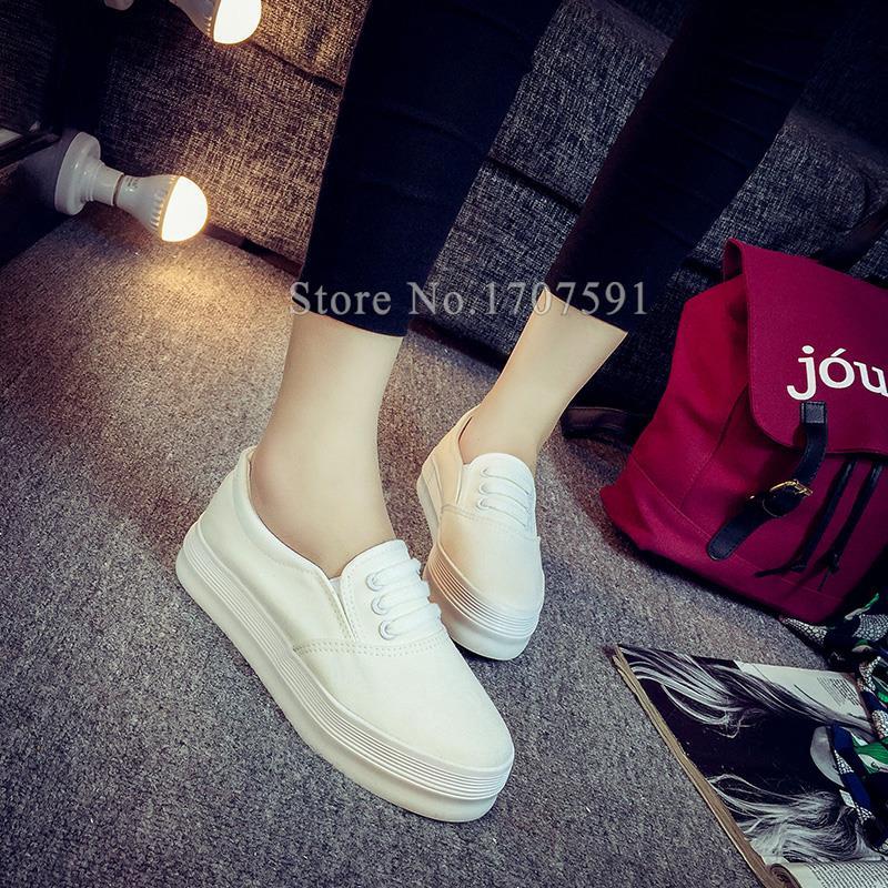 Hot sale 2016 new women casual shoes spring autumn slip on canvas platform ladies flats designer shoes brand loafers espadrilles<br><br>Aliexpress