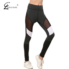 Buy CHRLEISURE S-XL Sexy High Waist Mesh Leggings Women Fashion Workout Push Polyester Legging Breathable Bodybuilding Jeggings for $6.95 in AliExpress store
